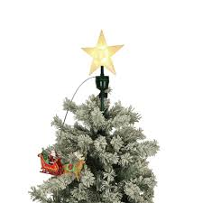 mr christmas 20 in tree topper santa and sleigh 49301 the home
