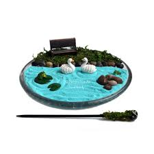 mini zen garden miniature pond desk accessory diy zen kit