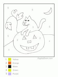 free halloween pumpkin color number printable ziggity zoom