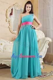 quince dama dresses teal empire one shoulder dresses for damas with beading in camuy