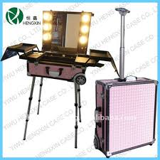 rolling makeup case with lighted mirror makeup case with lightirror emo makeup