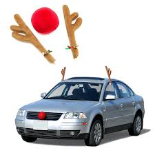 reindeer antlers for car reindeer car antlers nose set ships free 13 deals