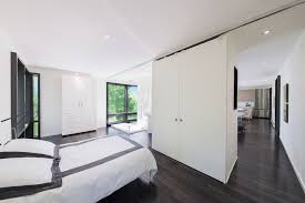 espresso hardwood floors bedroom modern with black and white