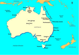 australia map of cities map