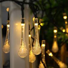outdoor string light chandelier solar outdoor string lights icicle 15 7ft 8 light modes 20 led