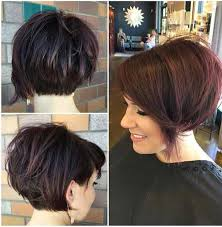 womans short hairstyle for thick brown hair unique short hairstyles for thick haired ladies the best short