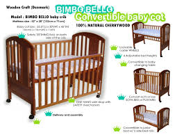 Convertible Crib Mattress Size Baby Cots Bimbo Bello Crib Cot Bed Baby Crib Cot Newborn