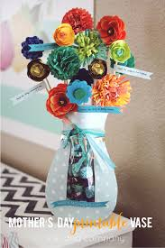 mother u0027s day printable vase with dove chocolates free printable