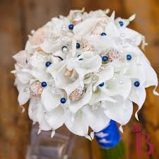 wedding bouquets with seashells silk wedding bouquets thebridalflower 7680 bridal flowers