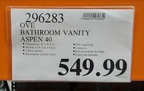 Costco Vanities For Bathrooms Ove Bathroom Aspen Vanity 40 Costco Weekender