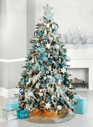 Christmas Tree With Blue Decorations - how to criss cross ribbons on a christmas tree christmas trees