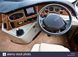 Luxury Motor Homes by Drivers Seat Steering Wheel And Dashboard In A Concorde Luxury