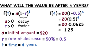 how do you solve a word problem with exponential decay virtual nerd