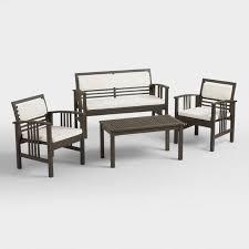 Gray Patio Furniture Sets Belize 4 Piece Outdoor Occasional Furniture Set World Market
