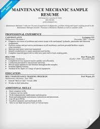 Firefighter Resume Objective Examples by Interesting Maintenance Mechanic Resume 12 Auto Mechanic Resume