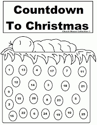 coloring pages advent calendar coloring home