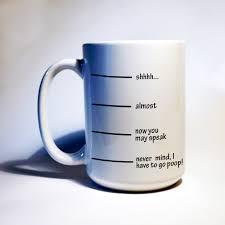 no talking until i have coffee shh i gotta funny coffee mug i
