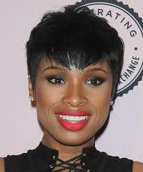 Jennifer Hudson Short Hairstyles Jennifer Hudson Short Straight Casual Hairstyle Black