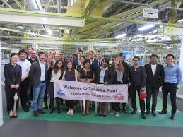 toyota company global leader program international students visited toyota