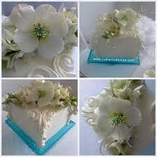 christmas rose and star of bethlehem bouquet square cake cake by