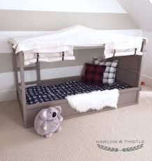 Ikea Canopy Bed Frame Ikea Kura Bed Hack Diy Boy Canopy Bed Harlow Thistle Home Kura Bed