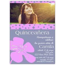 invitaciones para quinceanera invitaciones para quinceaneras con flor lila paperstyle