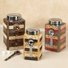 Red Kitchen Canisters Sets Matteo Ceramic Kitchen Canister Sets With Spoon For Kitchen