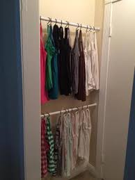 Curtain Rod Store How To Organize Tank Tops U0026 Camis Shower Curtain Rods