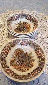 churchill myott thanksgiving turkey 6 5 cereal bowl ebay