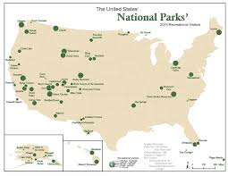 Utah National Parks Map Voronoi Map Of National Parks The Usa Divided Into Regions Based