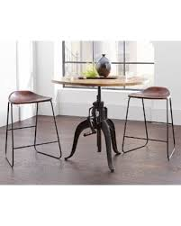 industrial bar table and stools here s a great deal on industrial style adjustable crank round bar