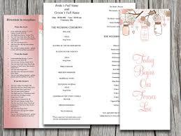 half fold wedding program template microsoft word love birds