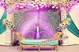 wedding backdrop manufacturers fiber backdrop peacock theem stage panel