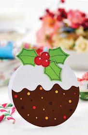easy christmas pudding card free craft project u2013 papercrafting