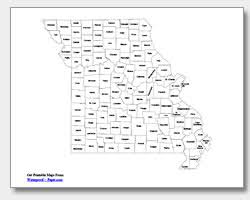 missouri map coloring pages printable missouri maps state outline county cities