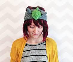 ear warmer headband ravelry totoro ear warmer headband pattern by hello happy