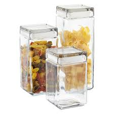 square kitchen canisters stackable square glass canisters apartment things