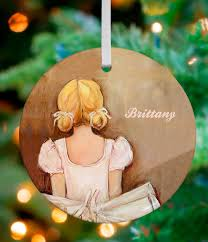 oopsy beautiful ballerina personalized ornament by