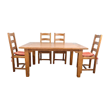 87 off crate and barrel crate u0026 barrel french farm dining set