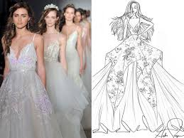 exclusive wedding dresses exclusive wedding dress sketches by designers hayley lazaro and