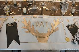 new year placemats diy festive butcher paper tablecloth happy new year