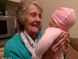 gifts for elderly grandmother maxine daniel s grandmother with dementia is given a baby annabell