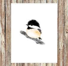 watercolor tutorial chickadee chickadee print baby bird prints baby animals baby animal