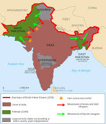 Hinduism Map Partition Lines Of India And East And West Pakistan Honors