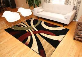 Area Rug Modern Rug Critic New City Contemporary Brown And Beige Modern Wavy
