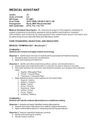 Objectives For A Resume Medical Assistant Objective For A Resume Free Resume Example And