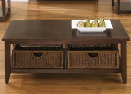coffee table with baskets under basket coffee table and end table set by liberty furniture wolf