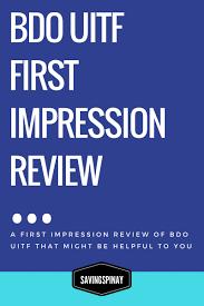 bdo uitf first impression savingspinay