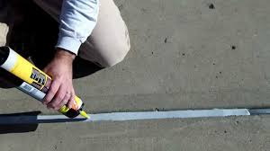 Leveling Uneven Concrete Patio by Concrete Expansion Joints Part 2 Apply New Watertight Sealant By