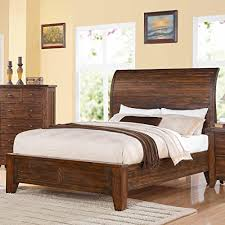 amazon com 4pc solid pine queen size bed complete cherner queen low profile bed in solid pine antique mocha https